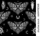 Seamless Monochrome Pattern ...