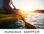 Kayaking. Close Up Of Man...