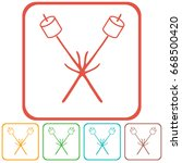 zephyr on skewer icon. vector... | Shutterstock .eps vector #668500420