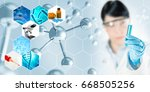 microbiology research abstract...   Shutterstock . vector #668505256