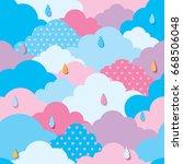 illustration vector of sky... | Shutterstock .eps vector #668506048