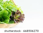 composition with raw vegetables ... | Shutterstock . vector #668506270
