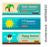 travel and vacation vector... | Shutterstock .eps vector #668506810