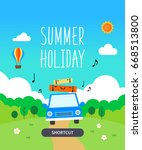 summer template illustration | Shutterstock .eps vector #668513800