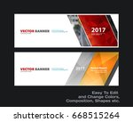 abstract vector set of modern... | Shutterstock .eps vector #668515264