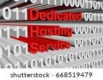 dedicated hosting service in... | Shutterstock . vector #668519479