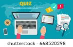 onlineforms of questioning on... | Shutterstock .eps vector #668520298