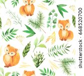 seamless pattern with... | Shutterstock . vector #668520700