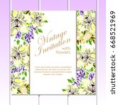 romantic invitation. wedding ... | Shutterstock .eps vector #668521969