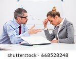 business people are arguing in...   Shutterstock . vector #668528248