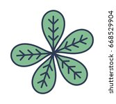 botany leaves to ecology care... | Shutterstock .eps vector #668529904