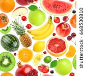 fruits seamless pattern.... | Shutterstock . vector #668530810