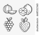 set fresh organic protein... | Shutterstock .eps vector #668531560