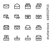 email icon set | Shutterstock .eps vector #668532910