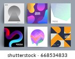 set of backgrounds with... | Shutterstock .eps vector #668534833