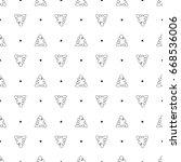 vector black and white seamless ... | Shutterstock .eps vector #668536006