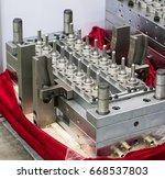 plastic mold of plastic bottle... | Shutterstock . vector #668537803