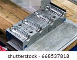 plastic mold of plastic bottle... | Shutterstock . vector #668537818