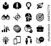 set of simple icons on a theme... | Shutterstock .eps vector #668542774
