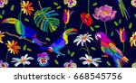 tropical colors palette.... | Shutterstock .eps vector #668545756