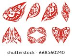 flaming eagle in the form of an ...   Shutterstock .eps vector #668560240