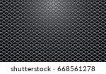 steel mesh realistic vector... | Shutterstock .eps vector #668561278