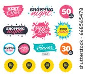 sale shopping banners. special... | Shutterstock . vector #668565478