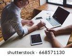 working process. | Shutterstock . vector #668571130
