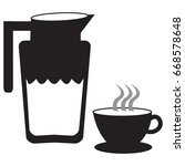 coffee icon | Shutterstock .eps vector #668578648