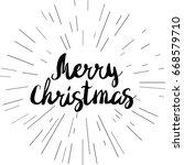 merry christmas vector text.... | Shutterstock .eps vector #668579710