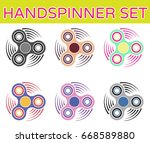 a set of spinners of six colors | Shutterstock .eps vector #668589880