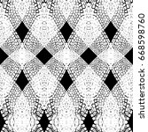 seamless vector pattern with... | Shutterstock .eps vector #668598760