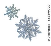 Two Snowflakes Isolated On...