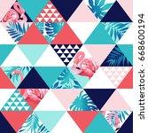 exotic beach trendy seamless...   Shutterstock .eps vector #668600194