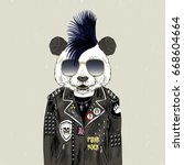 Panda Bear Punk  Furry Art...