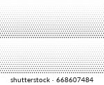abstract halftone dotted... | Shutterstock .eps vector #668607484