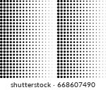 abstract halftone dotted... | Shutterstock .eps vector #668607490