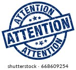 attention blue round grunge... | Shutterstock .eps vector #668609254
