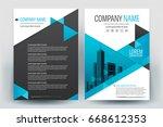 modern business brochure layout ... | Shutterstock .eps vector #668612353