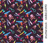 a pattern from a murder weapon... | Shutterstock .eps vector #668613490