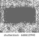 winter framework with... | Shutterstock .eps vector #668613940