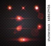 red glowing light premium | Shutterstock .eps vector #668619436