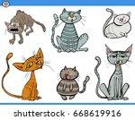 cartoon illustration of cats...   Shutterstock . vector #668619916