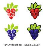 cartoon currant set | Shutterstock .eps vector #668622184