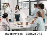 young multiethnic group of...   Shutterstock . vector #668626078