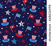 vector 4th of july seamless...   Shutterstock .eps vector #668626498