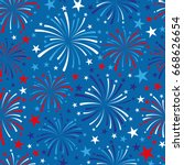 vector 4th of july seamless... | Shutterstock .eps vector #668626654