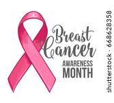 breast cancer awareness month... | Shutterstock .eps vector #668628358