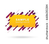 abstract label background  | Shutterstock .eps vector #668630284