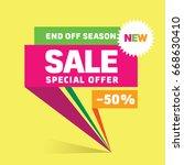 unique colorful sale banner... | Shutterstock .eps vector #668630410